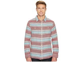 True Grit High Altitude Taos Stripe Long Sleeve Two-Pocket Shirt Men's Clothing