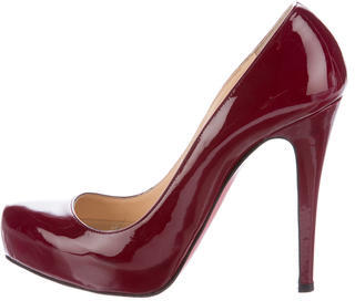 Christian Louboutin  Christian Louboutin Patent Leather Platform Pumps