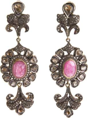 Petralux diamond baroque earrings