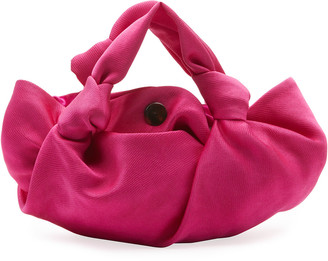The Row Ascot Two-Washed Satin Top Handle Bag