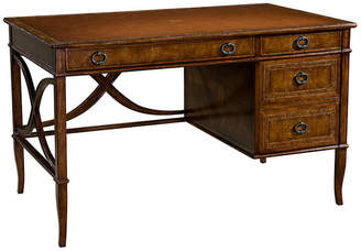 "Theodore Alexander L'Acriture 49"" Leather-Top Desk - Brown"