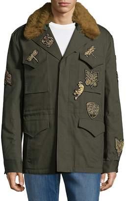 Roberto Cavalli Men's Metallic Patch Jacket