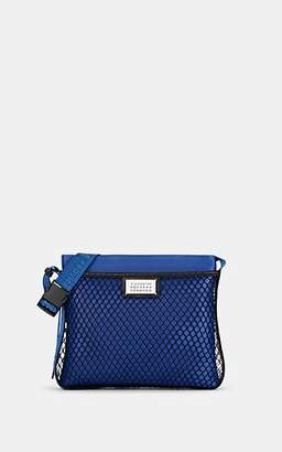 Maison Margiela Women's Fishnet & Leather Crossbody Bag - Blue