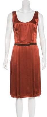 Dolce & Gabbana Silk Pleated Midi Dress w/ Tags