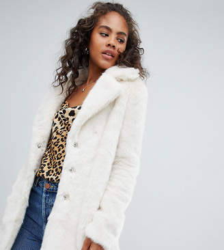 Glamorous Tall relaxed coat in faux fur