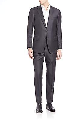 Hickey Freeman Men's Solid Wool Suit Set