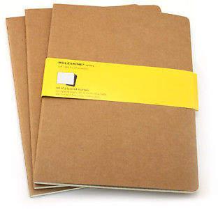 Moleskine NEW Extra Large Kraft Squared Journal Set
