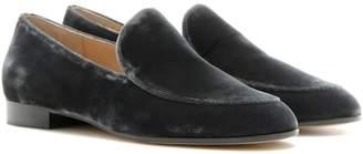 Gianvito Rossi Marcel velvet loafers