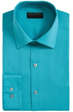 Alfani AlfaTech by Men's Bedford Cord Classic/Regular Fit Dress Shirt, Created For Macy's