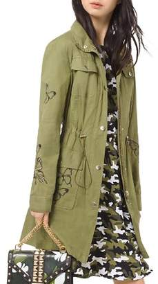MICHAEL Michael Kors Butterfly-Embroidered Cargo Jacket