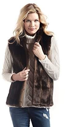 Donna Salyers'' Fabulous-Furs Donna Salyers' Fabulous-Furs Women's Standard Faux Fur Fashion Hook Vest,M