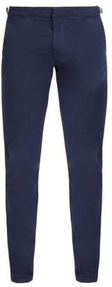 Orlebar Brown Campbell Cotton Blend Trousers - Mens - Navy