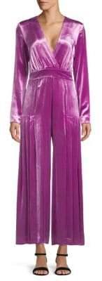 Temperley London Breeze Wrap Stretch Silk Jumpsuit