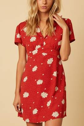Cotton Candy Rust Floral Dress