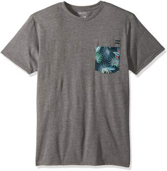 Billabong Men's Team Pocket Tee, Dark Grey Heather, XL