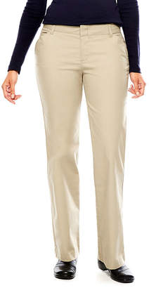 Dickies Misses Relaxed-Fit Straight-Leg Stretch Twill Pants-Tall