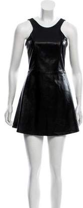Mason Leather Sleeveless Mini Dress