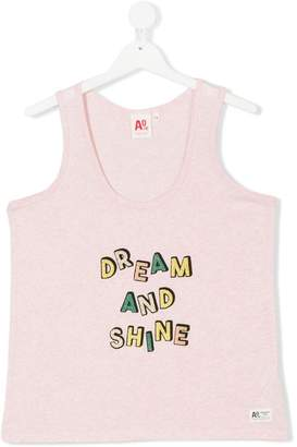 American Outfitters Kids slogan print vest top