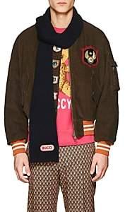 Gucci Men's Wool Scarf - Navy