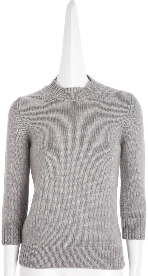 Barneys New York Chunky Pullover - Grey