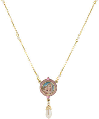 1928 SYMBOLS OF FAITH 1928 Symbols Of Faith Religious Jewelry Womens Round Pendant Necklace