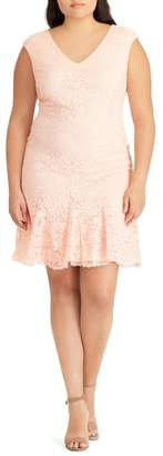 Lauren Ralph Lauren Francy Ruffle Hem Lace Dress