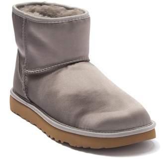 UGG Classic Mini Genuine Shearling Lined Satin Boot