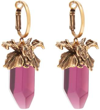 Alexander McQueen Quartz-drop earrings