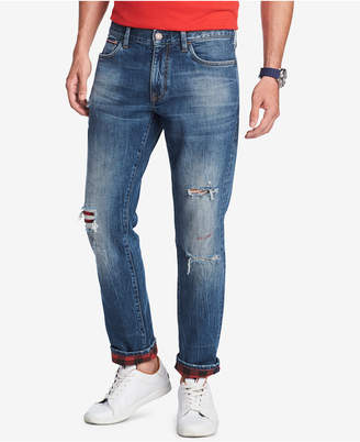 Tommy Hilfiger Men Straight-Fit Brad Plaid Jeans