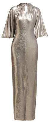 Osman Samantha Sequinned Gown - Womens - Silver
