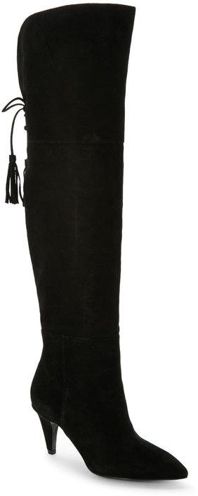 Nine Westnine west Black Josephine Over The Knee Boots