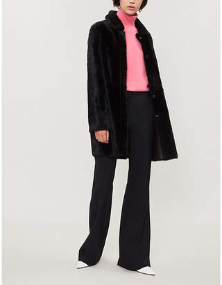 Yves Salomon Leather-lined shearling coat