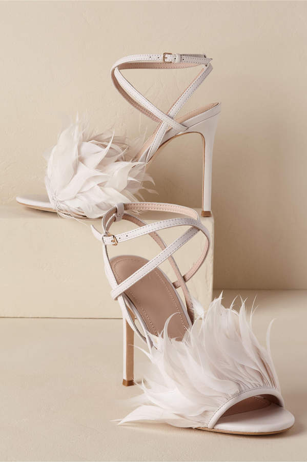 BHLDN Annette Feather Heels