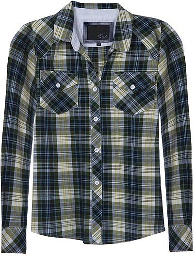 Rails Kendra Buttondown Plaid Shirt In Green