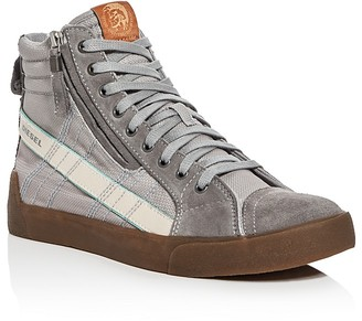 Diesel D-Velows D-String Plus Leather High Top Sneakers $150 thestylecure.com