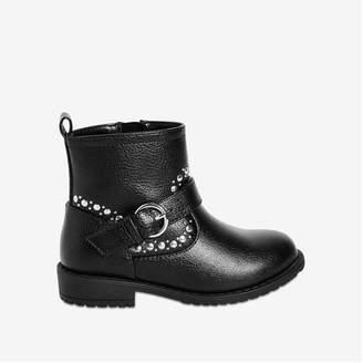 Joe Fresh Toddler Girls' Embellished Boots, Black (Size 9)