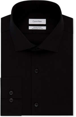 Calvin Klein X Men Steel Extra-Slim Fit Non-Iron Performance Herringbone Dress Shirt