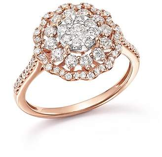 Bloomingdale's Diamond Flower Burst Statement Ring in 14K Rose Gold, 1.0 ct. t.w. - 100% Exclusive