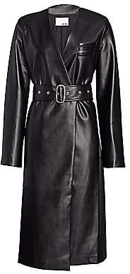Each X Other Women's Vegan Leather Wrap Dress