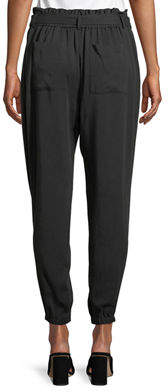 Laundry by Shelli Segal Belted High-Waist Jogger Pants