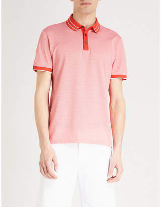 BOSS Striped cotton-jersey polo shirt