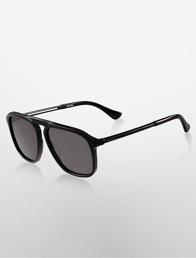 Calvin KleinAviator High Bar Sunglasses