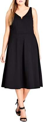 City Chic Cute Girl Fit & Flare Midi Dress
