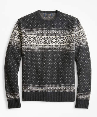 Mens Snowflake Sweater Shopstyle