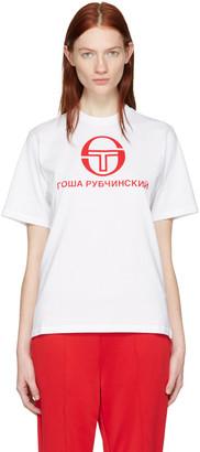 Gosha Rubchinskiy White Sergio Tacchini Edition T-Shirt $55 thestylecure.com