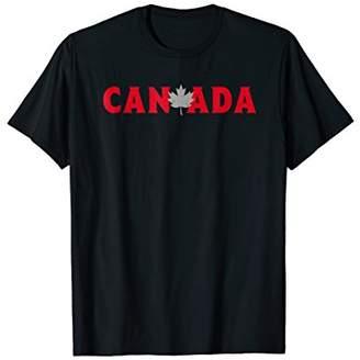Canada Maple Leaf T Shirt - Distressed Vintage Design