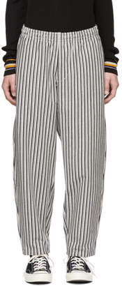 Nanamica Grey Vertical Stripe Trousers