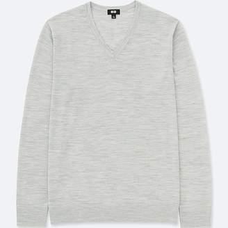 Uniqlo Men's Extra Fine Merino V-Neck Sweater