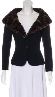 Fendi Mink-Trimmed Wool Jacket
