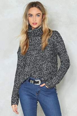 Nasty Gal Knit's About Time Turtleneck Sweater